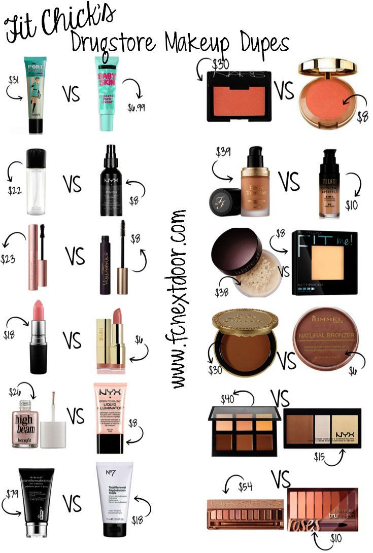 Drugstore Makeup Dupes dupemakeupideas Dupe Makeup
