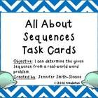 All About Sequences Word Problems Task Cards- Interactive Learning- Aligned to Common Core and TEKS