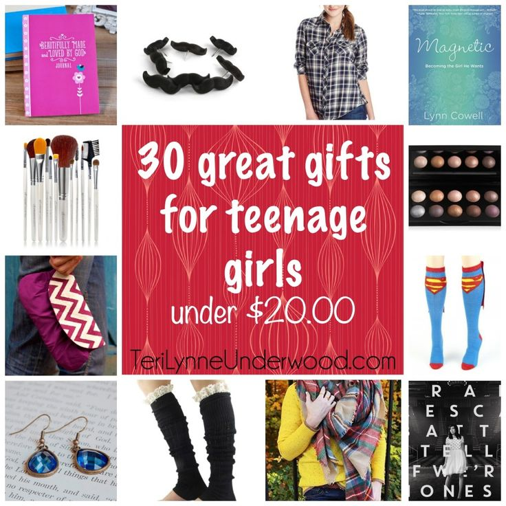 looking for great gifts for teenage girls? check out this list of 30 ideas — all UNDER $20!!!
