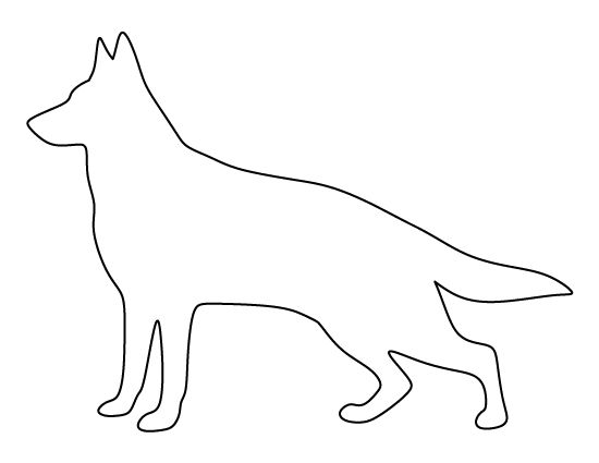 German shepherd pattern. Use the printable outline for