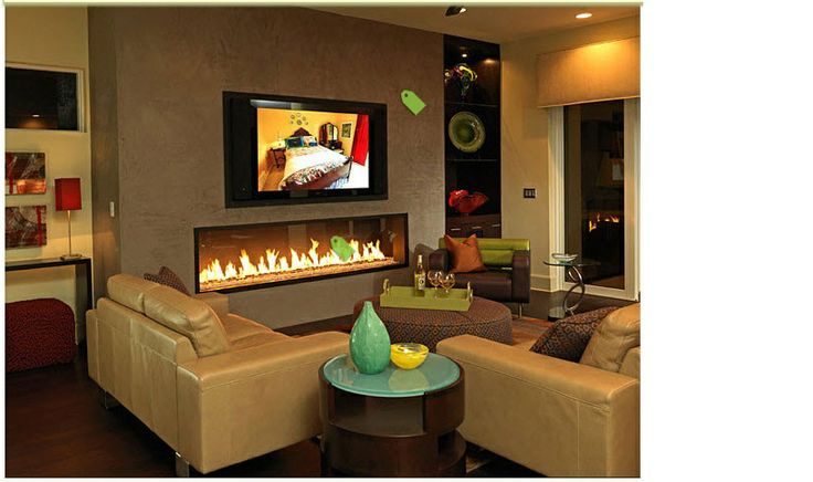 another elongated fireplace