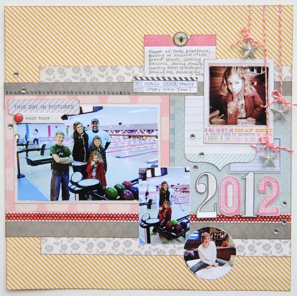 Here's a fun year end round up type of layout, perfect for New Year's Eve or New Year's Day or maybe your resolutions or thoughts on ending or beginning a new year!!