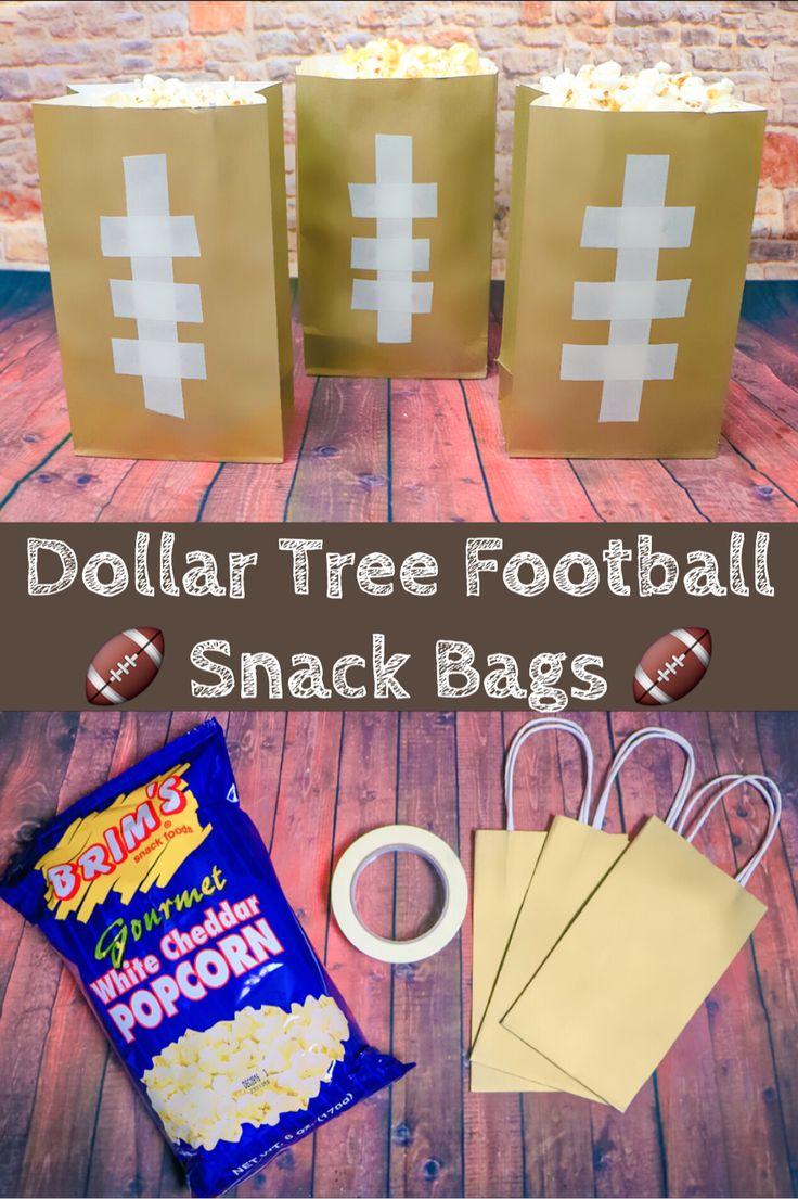 DOLLAR TREE FOOTBALL TREAT BAGS