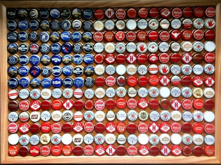 Beer cap flag