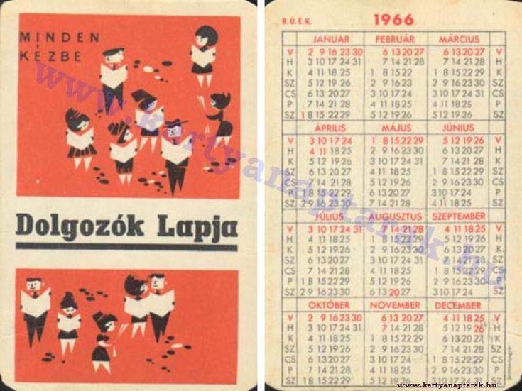1966 - 1966_0092 - Régi magyar kártyanaptárak