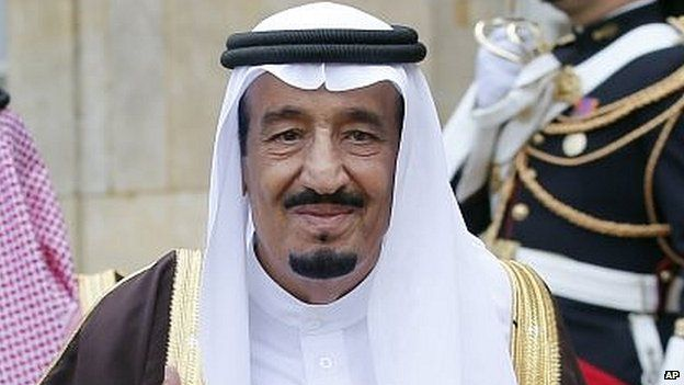 22 January 2015....Saudi Arabia's King Abdullah dies....Abdullah bin Abdulaziz was the fifth of his brothers to take the throne and became king in 2005, reports Caroline Hawley....Saudi King Abdullah bin Abdulaziz has died in hospital, royal officials have announced.....A statement, made early on Friday, said his brother, Salman, had become king. (This picture is Salman, the new king of Saudi Arabia)...Saudi Crown Prince Salman (02/09/14)