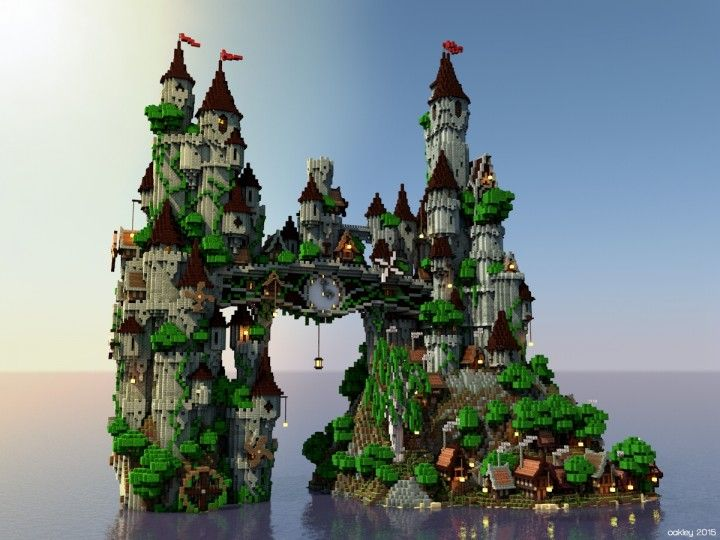 Clockwork Isle Minecraft castle building ideas 4