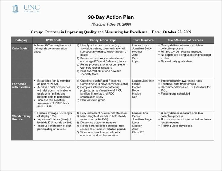 Image result for 30 60 90 day plan template for new