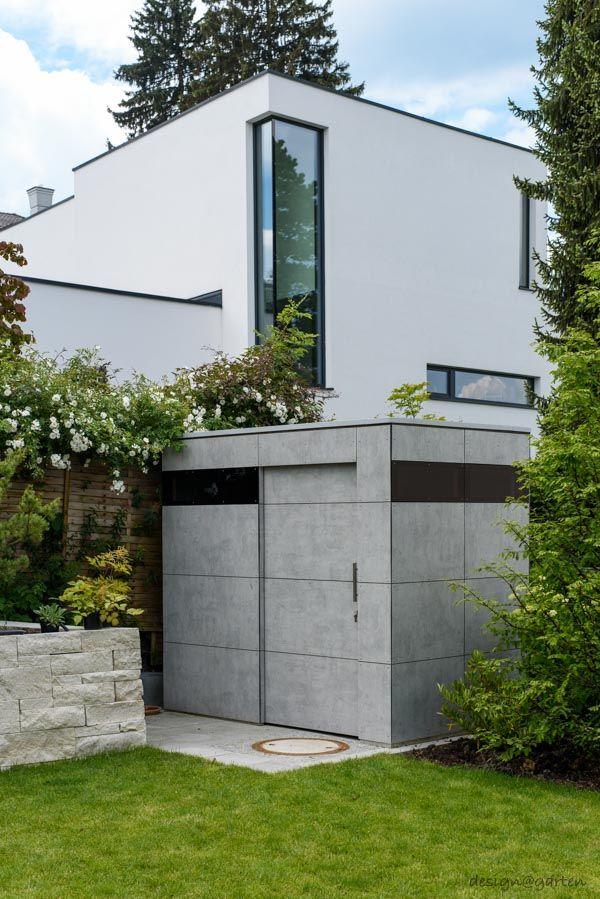design gartenhaus @_gart | Sichtbetonoptik | niemals streichen | München - Germany | design garden shed by design@garten