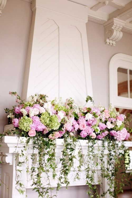 Floral Decor: SHABBY CHIC ~ FIREPLACES