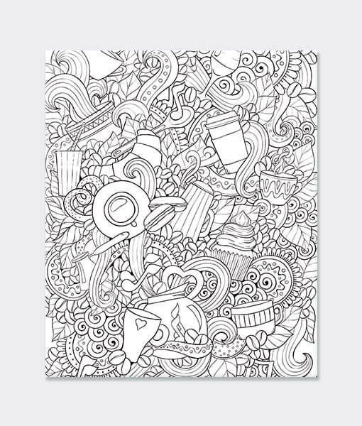 Karışık Desen Boyama Mandala Desen Tablo Kanvas