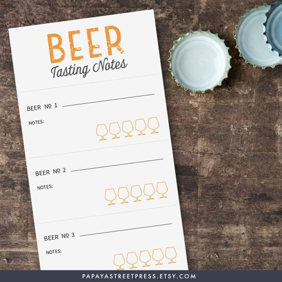 Printable beer tasting scorecard beer tasting by papayastreetpress
