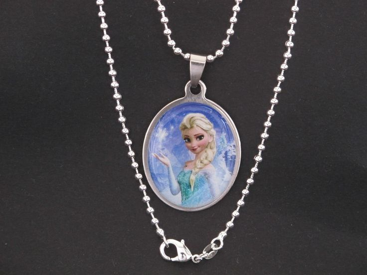 Frozen Movie Heroes Images Pendant set in Stainless Steel with Chain