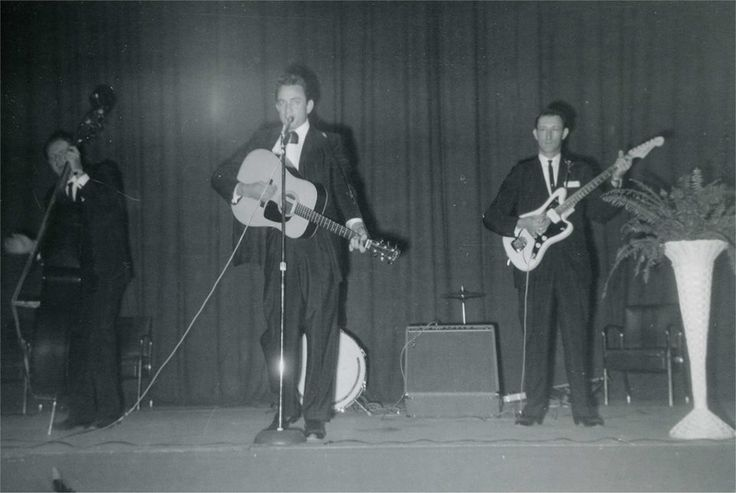 Johnny Cash's first gig with the Tennessee Two was playing for a group of elderly ladies in a church basement.