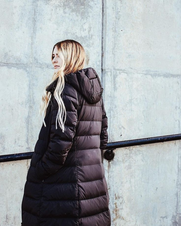 That's what we like to see. Jordan Shiley stuns in our Ultra Light Down Stretch Long Coat.