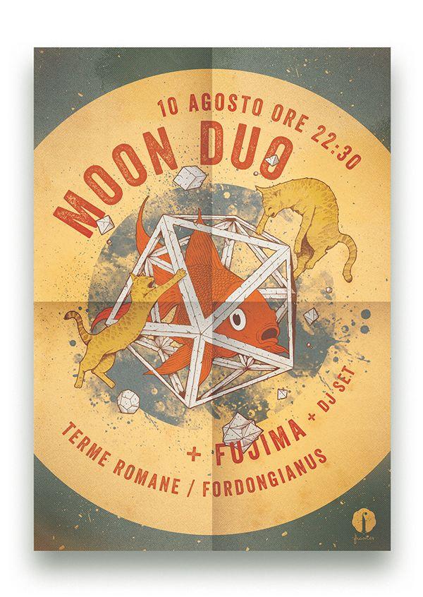 Moon Duo gig @ Fordongianus - Flyer on Behance