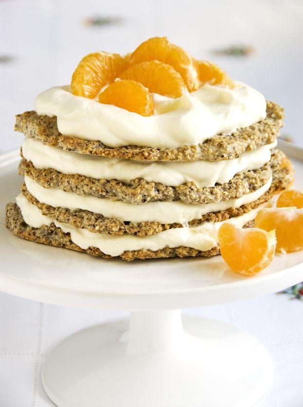 Nöttårta med mandariner | Recept från Köket.se