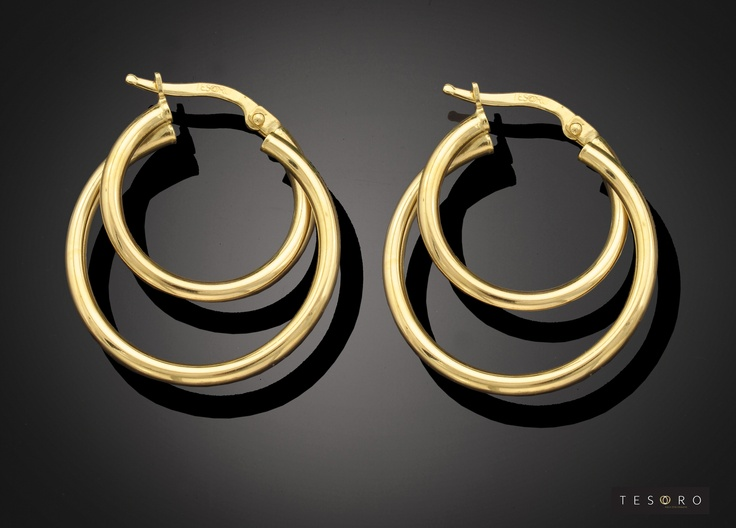 Tesoro Earring - GV476/9E YGAvailable in Yellow gold, Rose & White and Yellow & White combination   RRP - $335.00