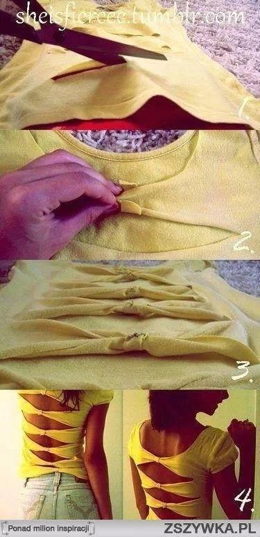 Confectionner un nouveau tee-shirt à partir d'un ancien !