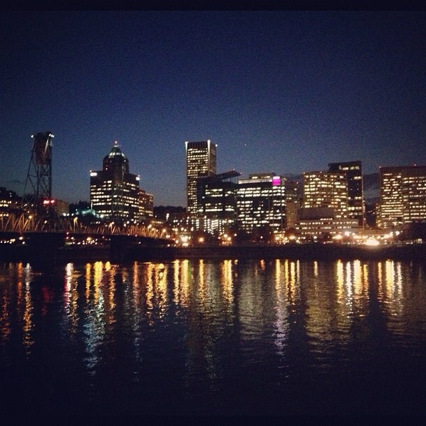 Last night was a beautiful night. #downtownpdx #downtownwaterfront #latergram