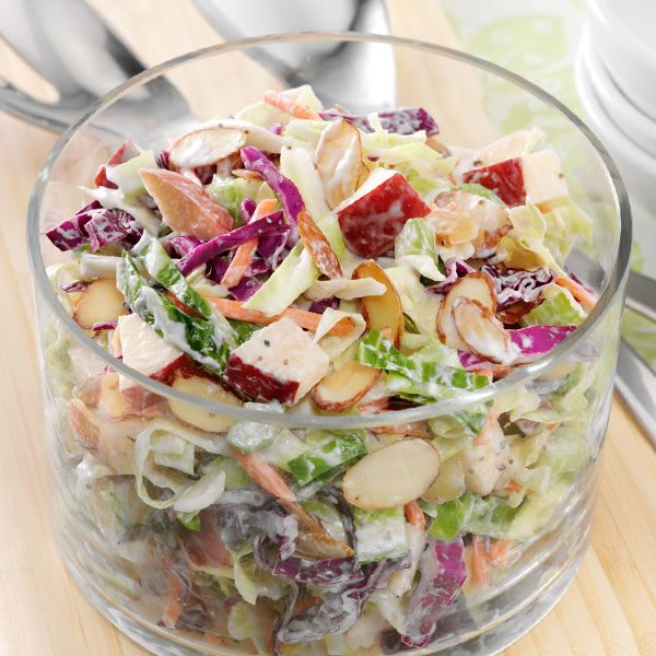 Combine apples, cabbage and Fisher®Sliced Almonds for a great crisp, crunchy addition to any meal.