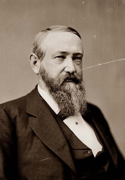Benjamin Harrison  Took Office - March 4, 1889. Left Office - March 4, 1893. The twenty third president, Republican party. His vice president was Levi P. Morton.