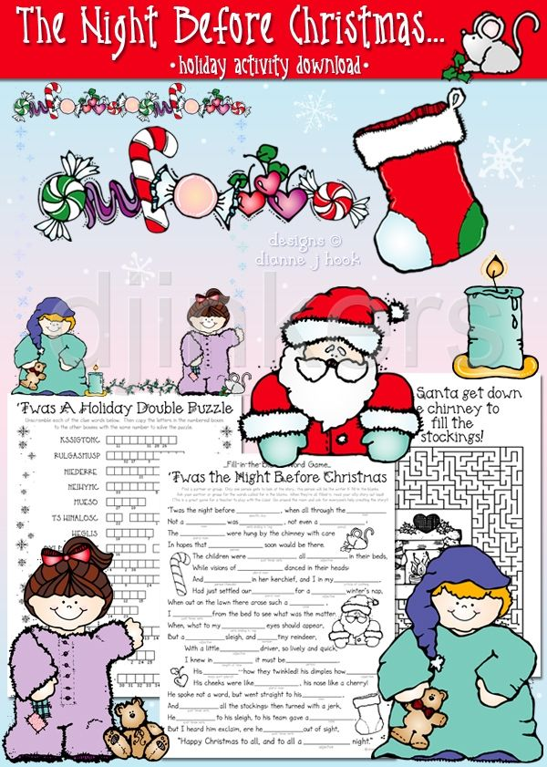 Christmas Classroom Decoration Printables ~ Best twas the night before christmas images on