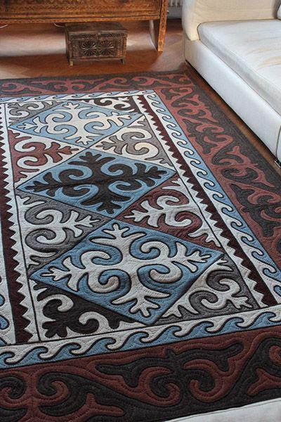 Nomad Carpet. Shyrdak Carpet from Kyrgystan. Fair Trade Felt Rug.