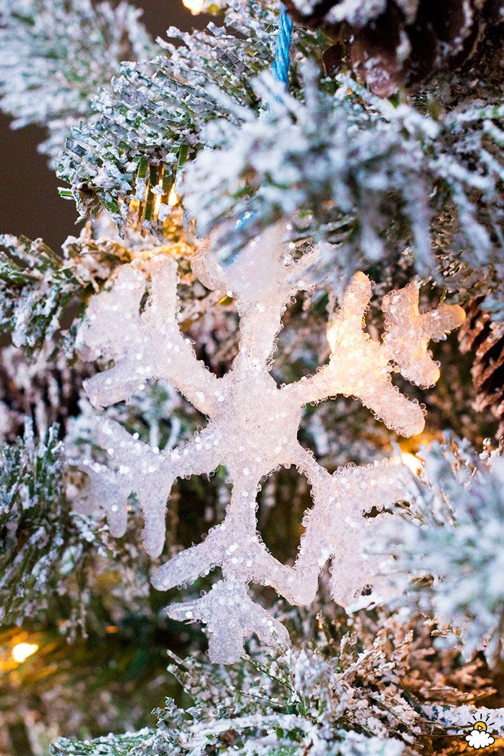 Trace A Simple Snowflake With A Hot Glue Gun To Create Adorable Last-Minute Ornaments