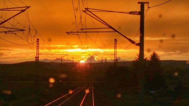 Sonnenuntergang über Thüringen