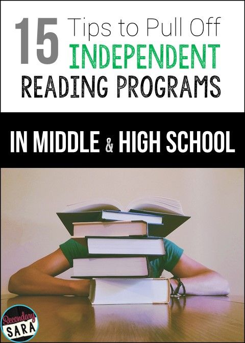 Blog Post for English Teachers: 15 Tips for Pulling off Independent Reading Programs (in Middle/ High School)