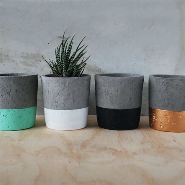 These concrete pots are one of White Moose's best sellers. A staple for all nursery and gift stores. #lifeinstyle