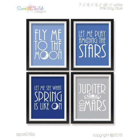 Baby Outer Space Nursery Decor Baby Room by SweetChildDesignsFL
