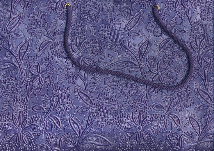 Purple Floral Large Bag  (87)
