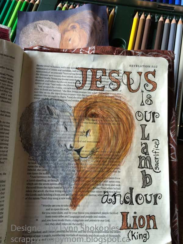 Revelation Bible Journal Page by Lynn Shokoples