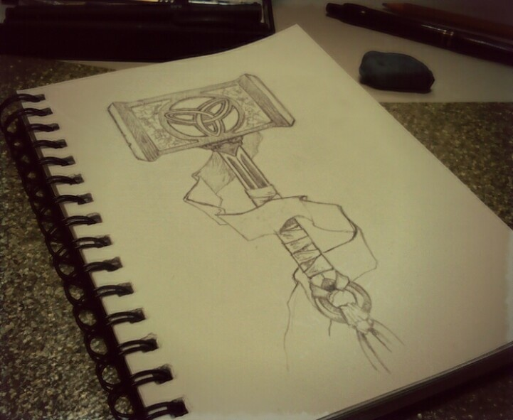 Todays Daily Sketch Thoru0026#39;s Hammer | Mpakopuc Sketchbook | Pinterest | Sketches Thors Hammer ...