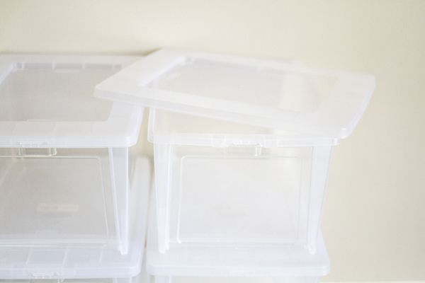 Clear Organizing Boxes