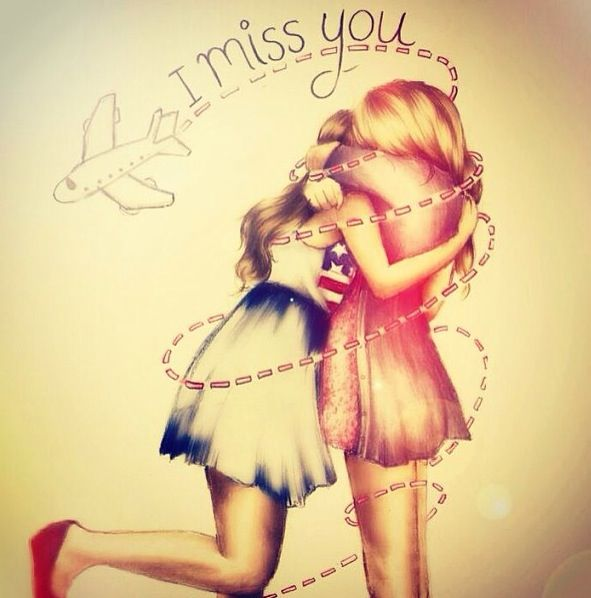 Kristina Webb| I Miss You This would be super cute to send to a friend you miss.