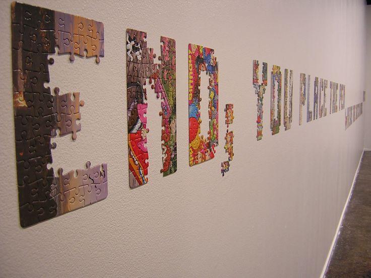 Paz Carvajal | How to draw a line / cómo trazar una línea, Letras de rompecabezas / jigsaw puzzles letters, 2005