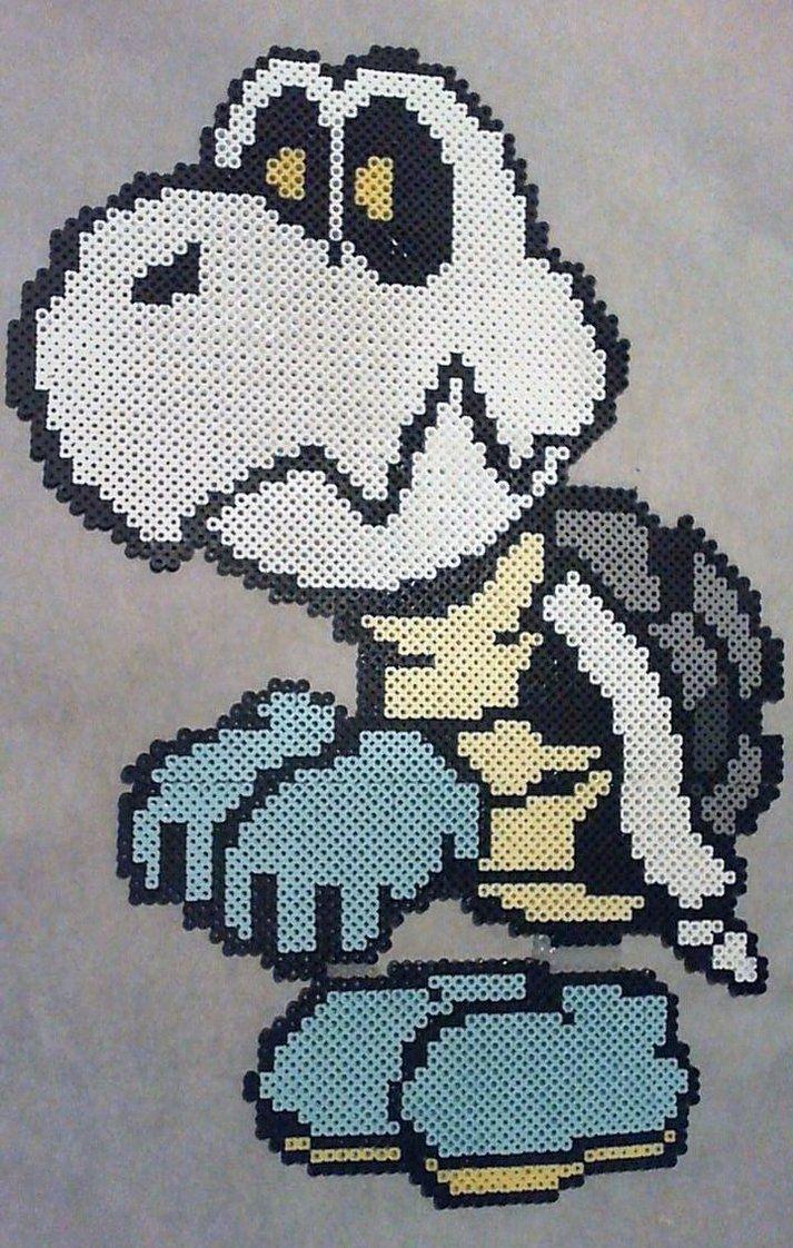 Dry Bones Mario perler beads by phantasm818
