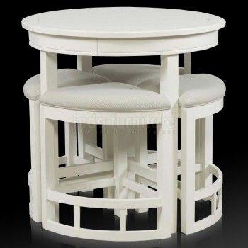 Set Meja Makan Minimalis Bulat | Indo Furniture