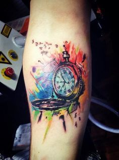 awesome Tattoo Trends - The Coolest Clock Tattoo Designs | Get New Tattoos for 2016 ......