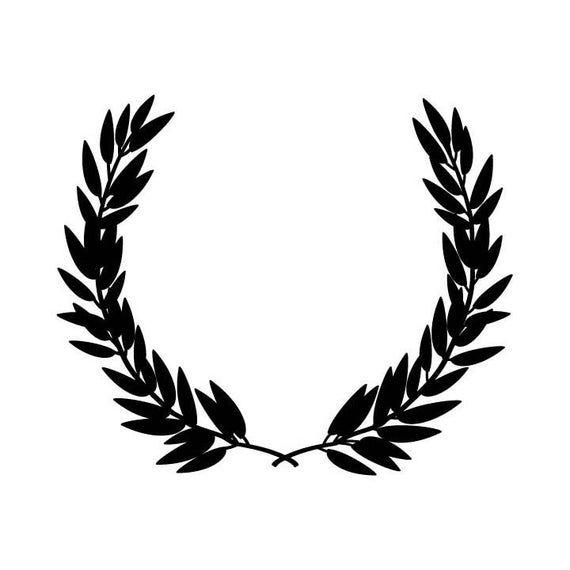 Olive Branch Wreath Vector Logo Design Element Emblem Label Etsy In 2021 Vector Logo Design Wreath Tattoo Olive Branch