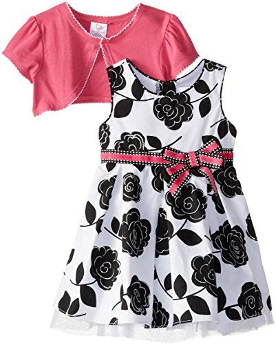 Youngland Baby-Girls Infant Floral Print Dress with Knit Shrug, Black/White/Pink, 12 Months Youngland http://www.amazon.com/dp/B00OV1F23E/ref=cm_sw_r_pi_dp_GMy0ub0W96MFD