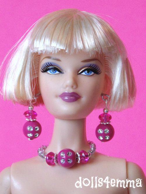 Barbie Doll sieraden - roze rozen en diamanten sieraden Set past Model Muse en meer - door dolls4emma