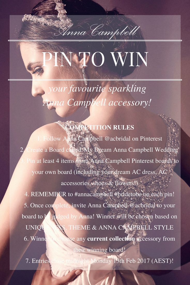 Bridal accessories on pinterest 86 pins - Anna Campbell Pinterest Competition Win Your Favourite Sparkling Anna Campbell Bridal Accessory Create