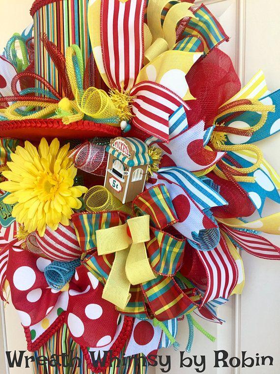 Circus Clown Deco Mesh Wreath with Clown Legs Top Hat & Light