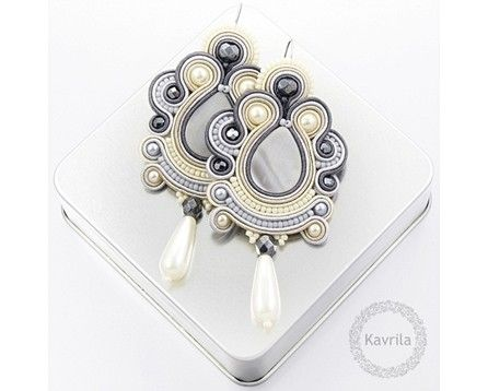Oriental grey soutache - Kavrila | Kavrila
