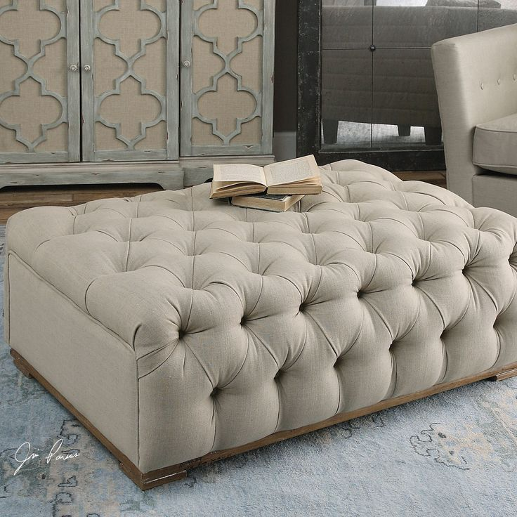 Best 25 White Ottoman Ideas On Pinterest