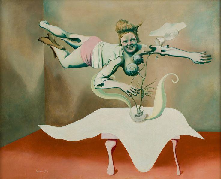 Wilhelm Freddie. Portrait of Jenny Chamber Gaard. 1939.